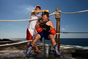 boxing kids by John Hicks