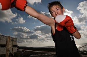 boxing kids by John Hicks